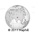 """Outline Map of the Area around 31° 11' 6"""" N, 81° 40' 30"""" E, rectangular outline"""