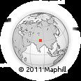 Outline Map of Kailash Mansarovar, rectangular outline