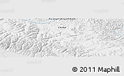 """Physical Panoramic Map of the area around 31°11'6""""N,81°40'30""""E"""