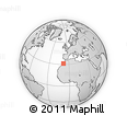 """Outline Map of the Area around 31° 11' 6"""" N, 8° 25' 30"""" W, rectangular outline"""
