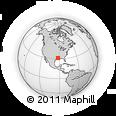 Outline Map of Pineville, rectangular outline