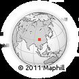Outline Map of Zhegu Miuntain, rectangular outline