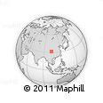 Outline Map of Nanxinzhen, rectangular outline
