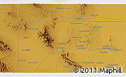 """Physical 3D Map of the area around 31°39'38""""N,107°52'30""""W"""