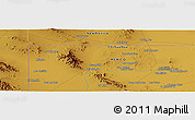 """Physical Panoramic Map of the area around 31°39'38""""N,107°52'30""""W"""