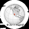 Outline Map of Sasabe, rectangular outline