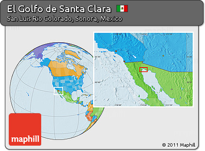 Golfo De Mexico Map.Free Political Location Map Of El Golfo De Santa Clara