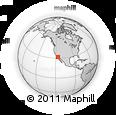 Outline Map of Ensenada, rectangular outline
