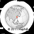 Outline Map of Liyang, rectangular outline