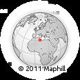 Outline Map of Nālūt, rectangular outline
