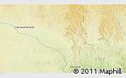"""Physical 3D Map of the area around 31°39'38""""N,12°49'29""""E"""