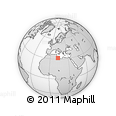 """Outline Map of the Area around 31° 39' 38"""" N, 12° 49' 29"""" E, rectangular outline"""