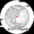 Outline Map of Ijūin, rectangular outline