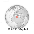 Outline Map of Bani Waled, rectangular outline