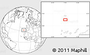 """Blank Location Map of the area around 31°39'38""""N,16°55'29""""W"""