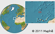 """Satellite Location Map of the area around 31°39'38""""N,16°55'29""""W"""