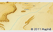 """Physical 3D Map of the area around 31°39'38""""N,1°37'30""""W"""