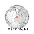Outline Map of Béchar, rectangular outline