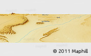 """Physical Panoramic Map of the area around 31°39'38""""N,1°37'30""""W"""