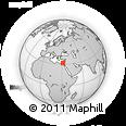 Outline Map of Damietta, rectangular outline