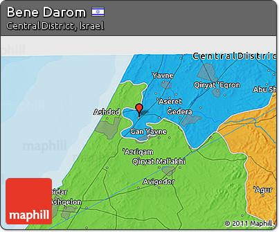 Political 3D Map of Bene Darom