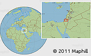 Savanna Style Location Map of Mishmar Ayyalon