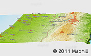 Physical Panoramic Map of Mishmar Ayyalon