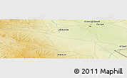 "Physical Panoramic Map of the area around 31° 39' 38"" N, 36° 37' 30"" E"
