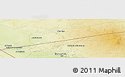 """Physical Panoramic Map of the area around 31°39'38""""N,37°28'30""""E"""