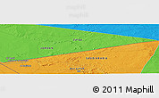 """Political Panoramic Map of the area around 31°39'38""""N,37°28'30""""E"""