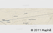 """Shaded Relief Panoramic Map of the area around 31°39'38""""N,37°28'30""""E"""