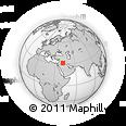 Outline Map of Ar Raţţāwī, rectangular outline