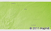 """Physical 3D Map of the area around 31°39'38""""N,43°25'29""""E"""