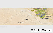 "Satellite Panoramic Map of the area around 31° 39' 38"" N, 44° 16' 29"" E"