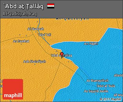 Political 3D Map of `Abd Aţ Ţallāq
