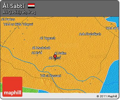 Political 3D Map of Āl Sabtī