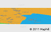 Political Panoramic Map of Qal`at `Urayd