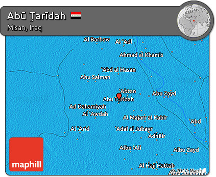 Political 3D Map of Abū Ţarīdah