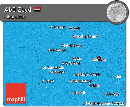 Political 3D Map of Abū Zayd