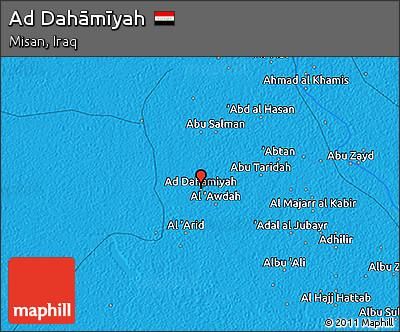 Political 3D Map of Ad Dahāmīyah