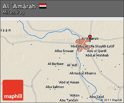 Free Shaded Relief 3D Map of Al Amrah