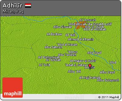 Physical Panoramic Map of Adhīlīr