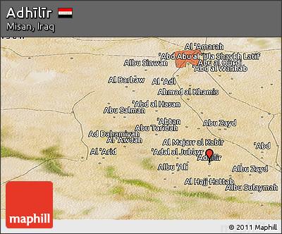 Satellite Panoramic Map of Adhīlīr