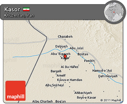 Shaded Relief 3D Map of Kasor