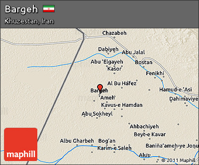 Shaded Relief 3D Map of Bargeh