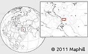 Blank Location Map of Mālekīyeh