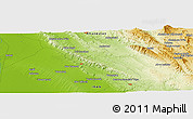 "Physical Panoramic Map of the area around 31° 39' 38"" N, 49° 22' 30"" E"