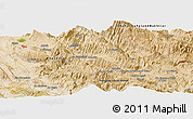 Satellite Panoramic Map of Cham Mowlā