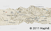Shaded Relief Panoramic Map of Cham Mowlā