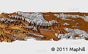 Physical Panoramic Map of Kūh-e Sebūr